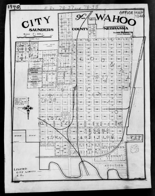 1940 Census Enumeration District Maps Nebraska Saunders County