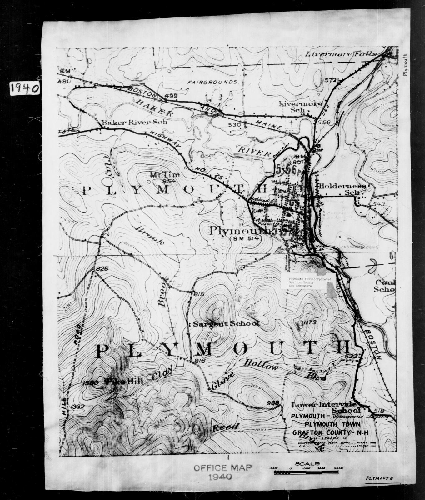 1940 Census Enumeration District Maps - New Hampshire - Grafton