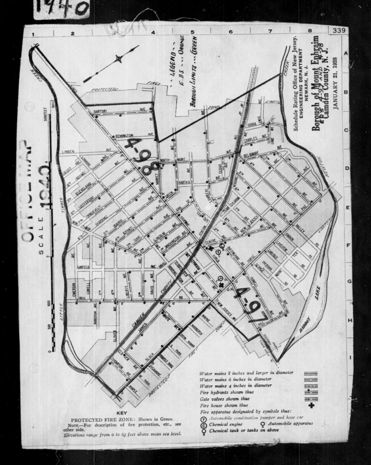 1940 Census Enumeration District Maps - New Jersey - Camden County on