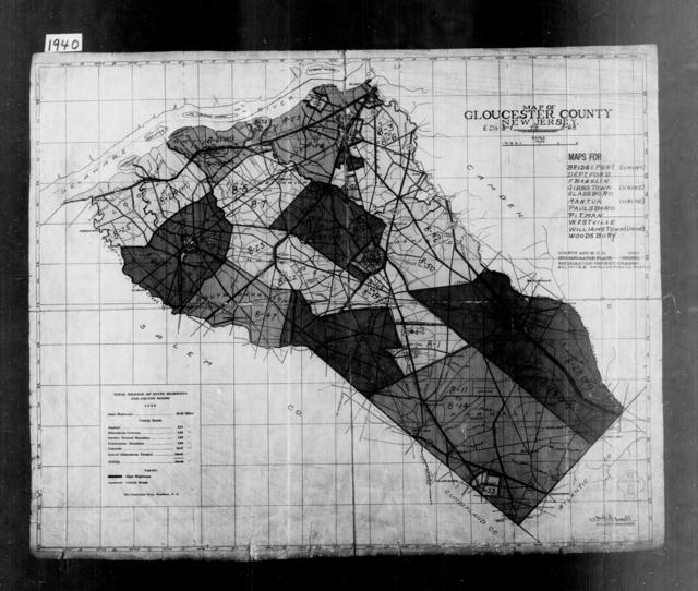 1940 Census Enumeration District Maps - New Jersey - Gloucester County - ED 8-1 - ED 8-68