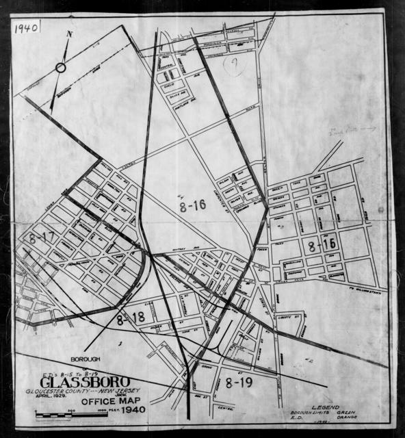 1940 Census Enumeration District Maps - New Jersey - Gloucester County - Glassboro - ED 8-15, ED 8-16, ED 8-17, ED 8-18, ED 8-19