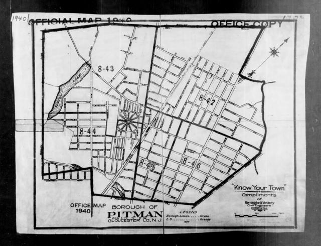 1940 Census Enumeration District Maps - New Jersey - Gloucester County - Pitman - ED 8-42, ED 8-43, ED 8-44, ED 8-45, ED 8-46
