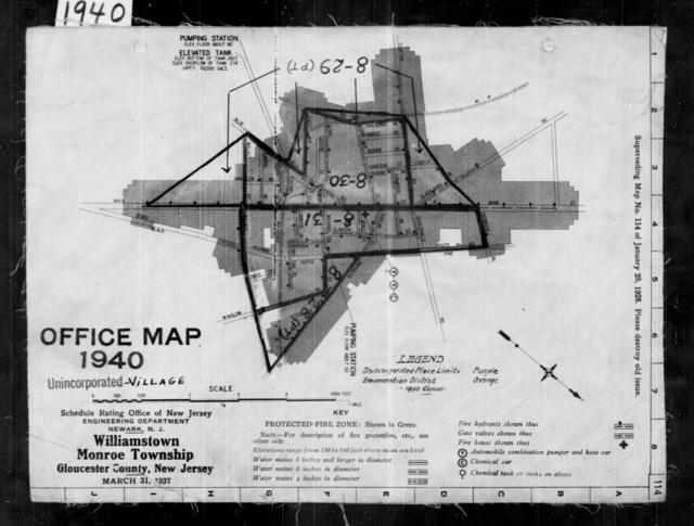 1940 Census Enumeration District Maps - New Jersey - Gloucester County - Williamstown - ED 8-28, ED 8-29, ED 8-30, ED 8-31