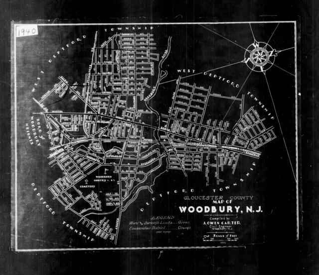 1940 Census Enumeration District Maps - New Jersey - Gloucester County - Woodbury - ED 8-58, ED 8-59, ED 8-60, ED 8-61, ED 8-62, ED 8-63, ED 8-64, ED 8-65