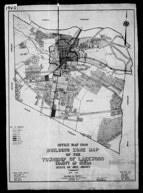 1940 Census Enumeration District Maps - New Jersey - Ocean County - Lakewood - ED 15-30, ED 15-31, ED 15-32, ED 15-33, ED 15-34, ED 15-35, ED 15-36, ED 15-37