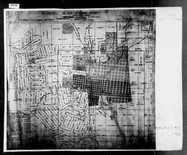 1940 Census Enumeration District Maps - New Mexico - Grant County - Silver City - ED 9-5, ED 9-6, ED 9-7