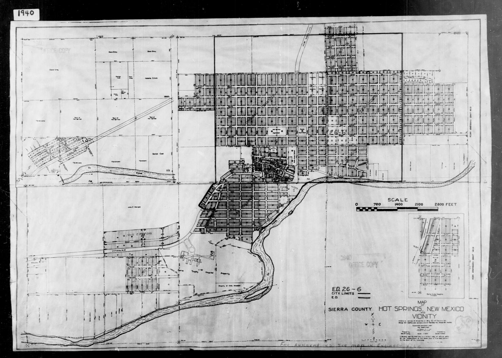 1940 Census Enumeration District Maps - New Mexico - Sierra County ...