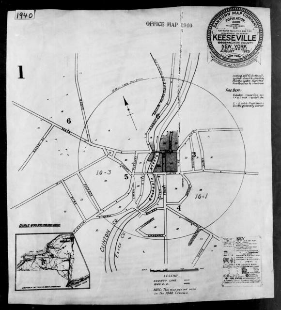 1940 Census Enumeration District Maps - New York - Clinton County - Keeseville - ED 10-3