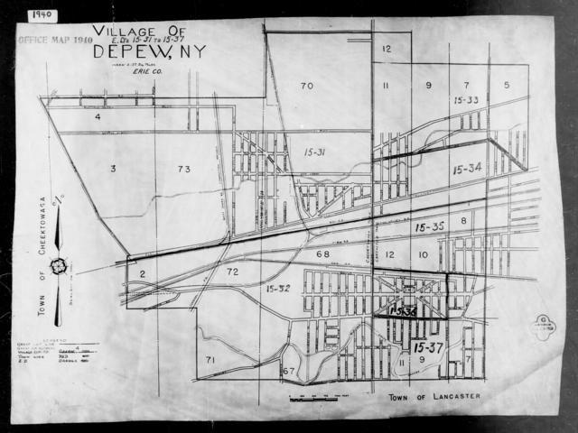 1940 Census Enumeration District Maps - New York - Erie County - Depew - ED 15-31, ED 15-32, ED 15-33, ED 15-34, ED 15-35, ED 15-36, ED 15-37