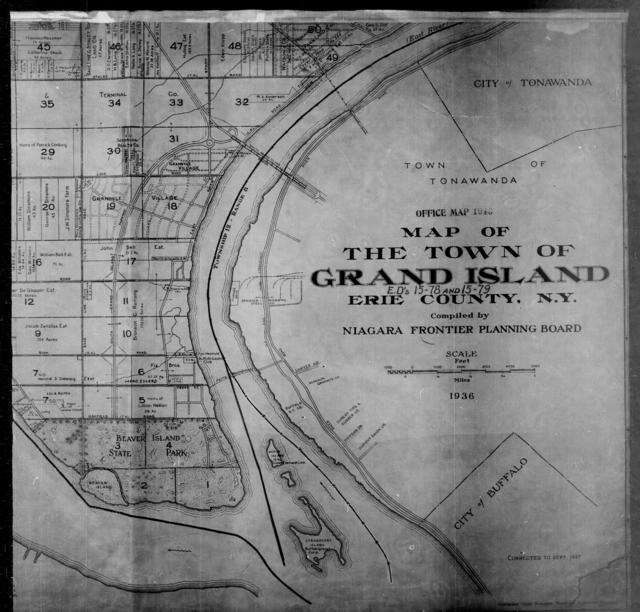 1940 Census Enumeration District Maps - New York - Erie County - Grand Island - ED 15-78, ED 15-79