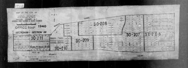 1940 Census Enumeration District Maps - New York - Nassau County - Long Beach - ED 30-206, ED 30-207, ED 30-208, ED 30-209, ED 30-210, ED 30-211
