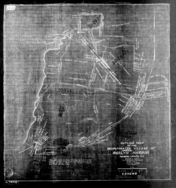 1940 Census Enumeration District Maps - New York - Nassau County - Roslyn Harbor - ED 30-244, ED 30-297