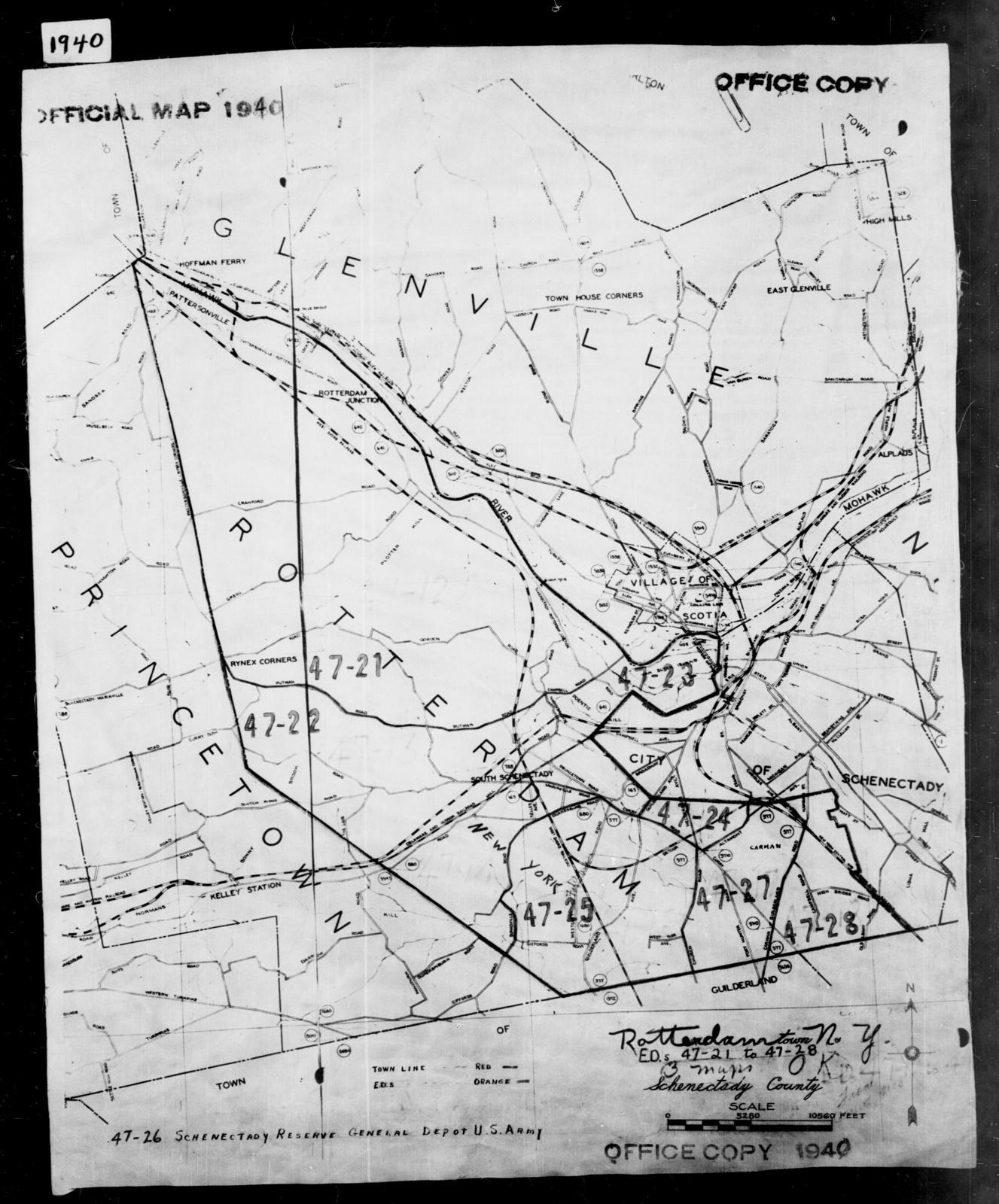Schenectady New York Map.1940 Census Enumeration District Maps New York Schenectady