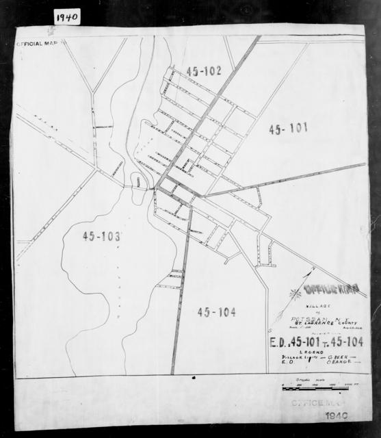 1940 Census Enumeration District Maps - New York - St. Lawrence County - Potsdam - ED 45-100 - ED 45-108