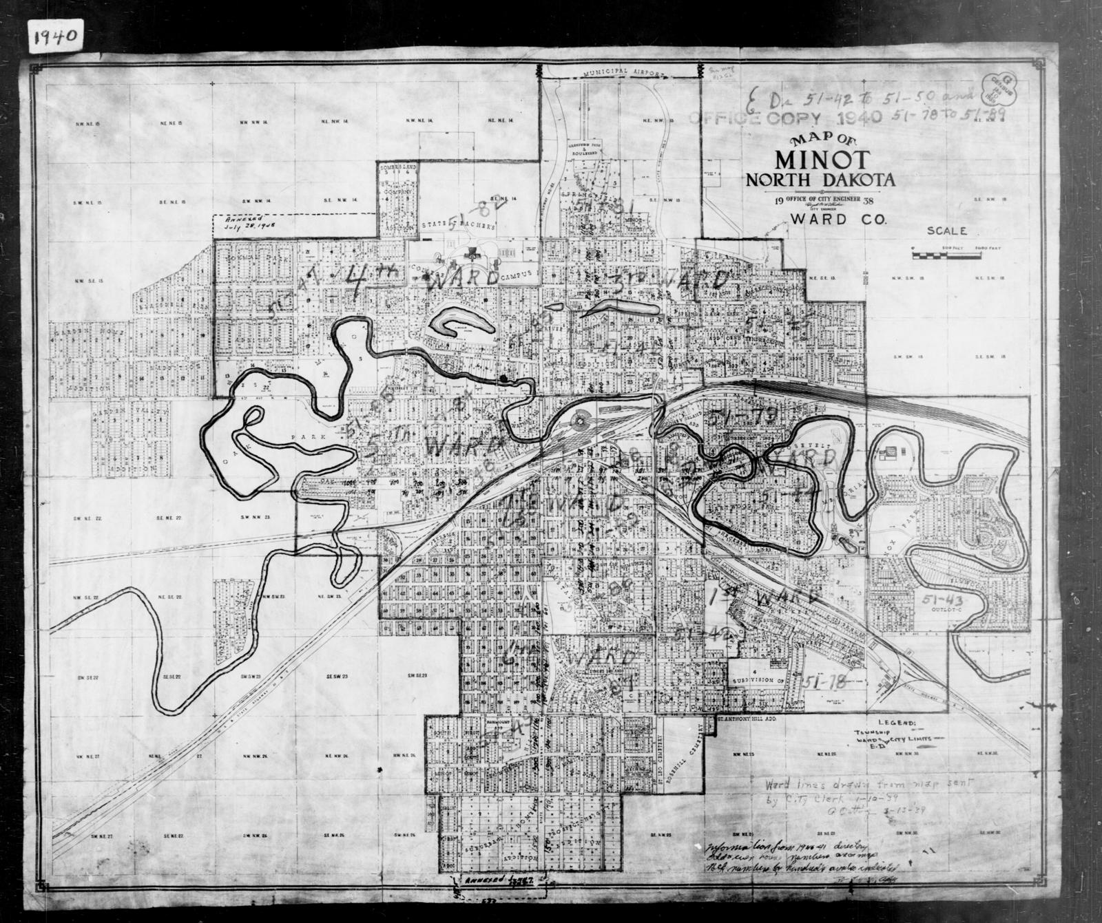 1940 Census Enumeration District Maps - North Dakota - Ward ... on map of arcata ca, map of carson city nevada, map of troy new york, map of casa grande arizona, map of la grande oregon, map of evanston illinois, map of spearfish south dakota, map of terranea, map of alamogordo new mexico, map of north minot nd, map of aberdeen south dakota, map of new haven connecticut, map of minot state, map of minot beach, map nd north dakota, map of winter garden florida, map of cedar rapids iowa, map of boone iowa, map of ashland ohio, map of hutchinson kansas,