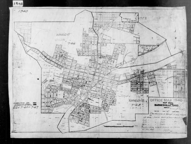 1940 Census Enumeration District Maps - Ohio - Belmont County - Barnesville - ED 7-64, ED 7-65, ED 7-66, ED 7-67, ED 7-68