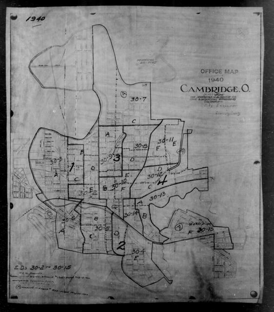 1940 Census Enumeration District Maps - Ohio - Guernsey County - Cambridge - ED 30-2 - ED 30-15