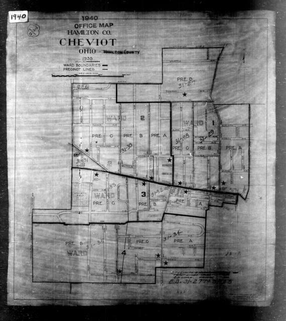 1940 Census Enumeration District Maps - Ohio - Hamilton County - Cheviot - ED 31-27 - ED 31-35