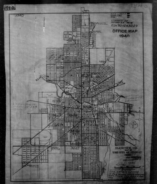 1940 Census Enumeration District Maps - Ohio - Hancock County - Findlay - ED 32-12 - ED 32-29