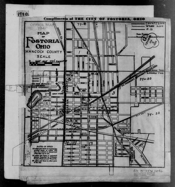 1940 Census Enumeration District Maps - Ohio - Hancock County - Fostoria - ED 32-45, ED 32-46