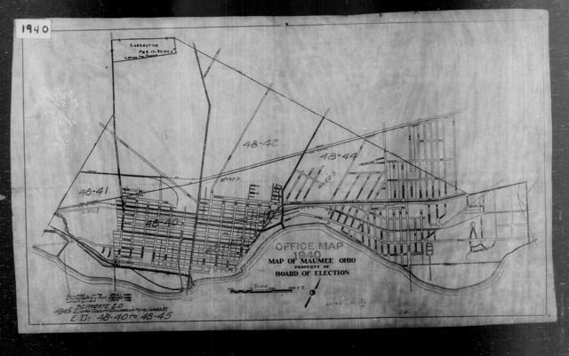 1940 Census Enumeration District Maps - Ohio - Lucas County - Maumee - ED 48-40, ED 48-41, ED 48-42, ED 48-43, ED 48-44, ED 48-45