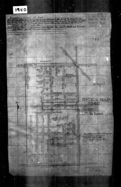1940 Census Enumeration District Maps - Ohio - Lucas County - Radnor Park - ED 48-34