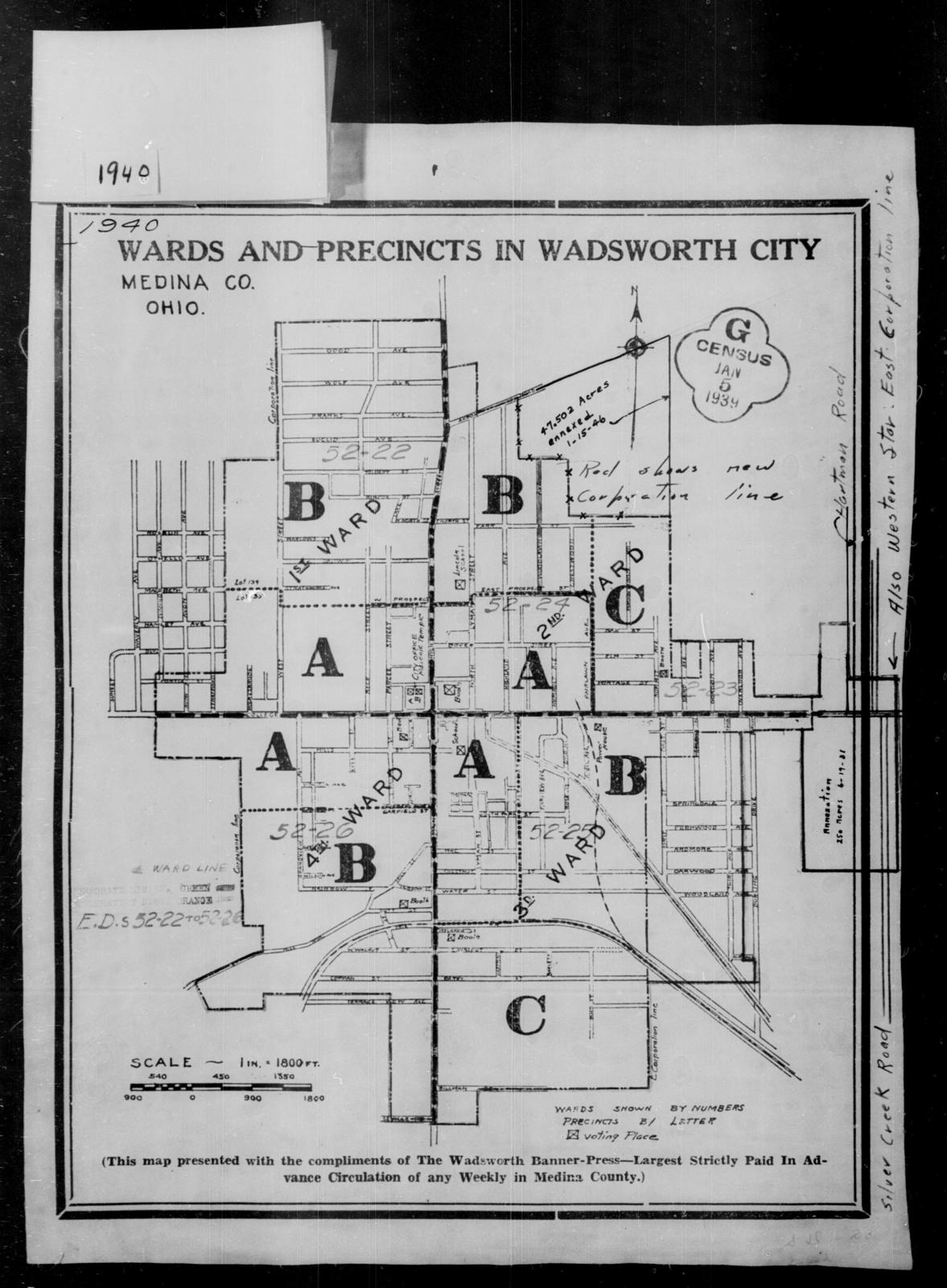 1940 Census Enumeration District Maps - Ohio - Medina County ... on us 33 ohio map, us 30 ohio map, us 23 ohio map, us 35 ohio map,