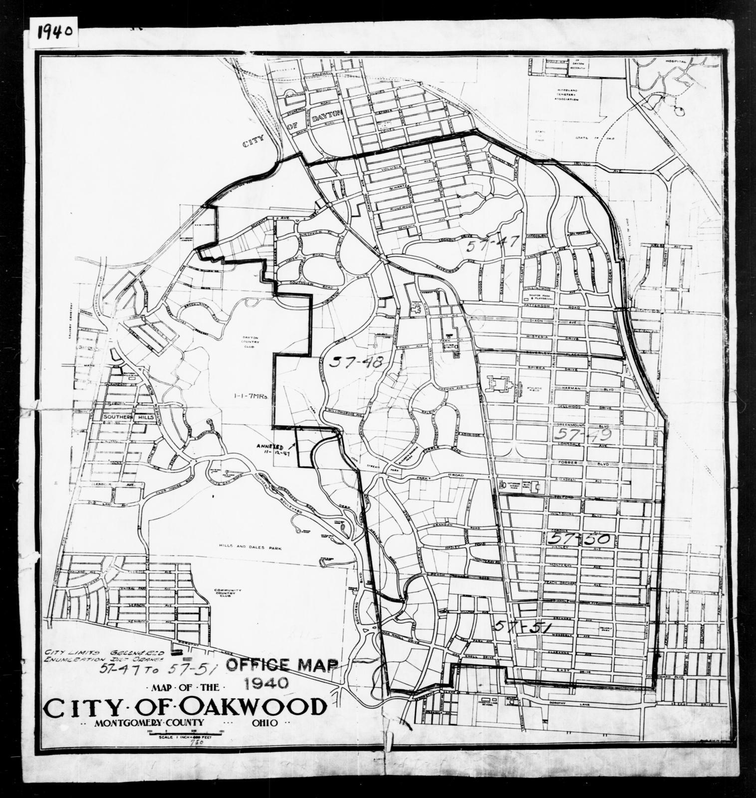 1940 Census Enumeration District Maps Ohio Montgomery County