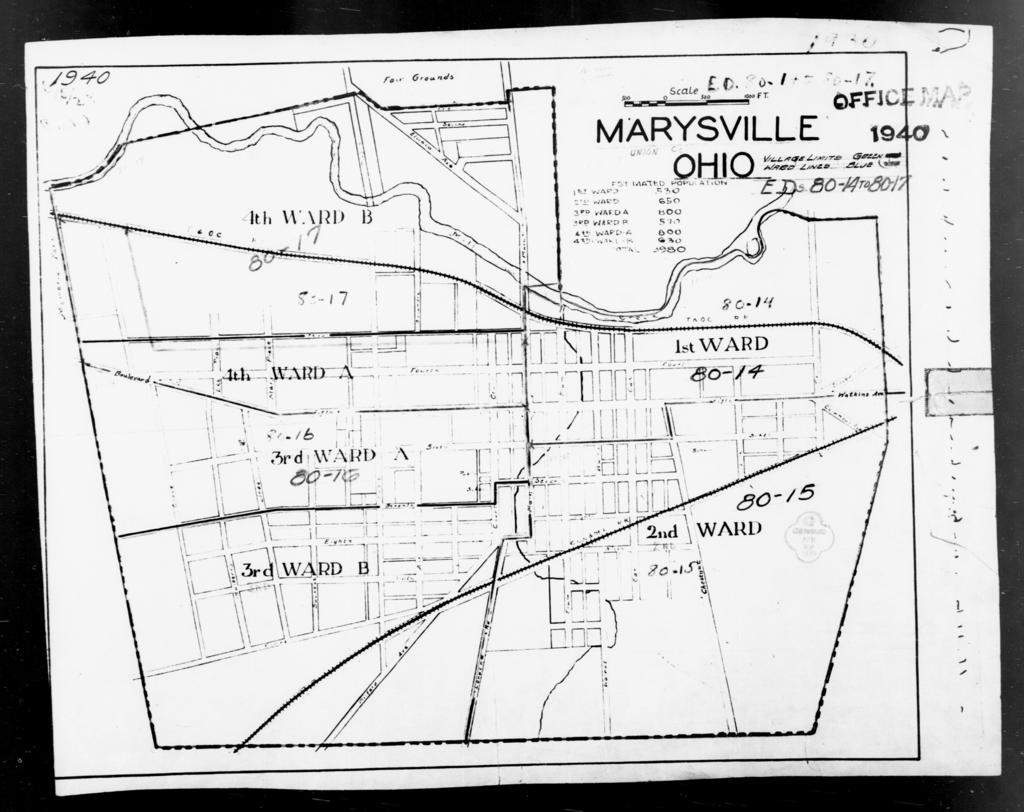 1940 Census Enumeration District Maps - Ohio - Union County ... on