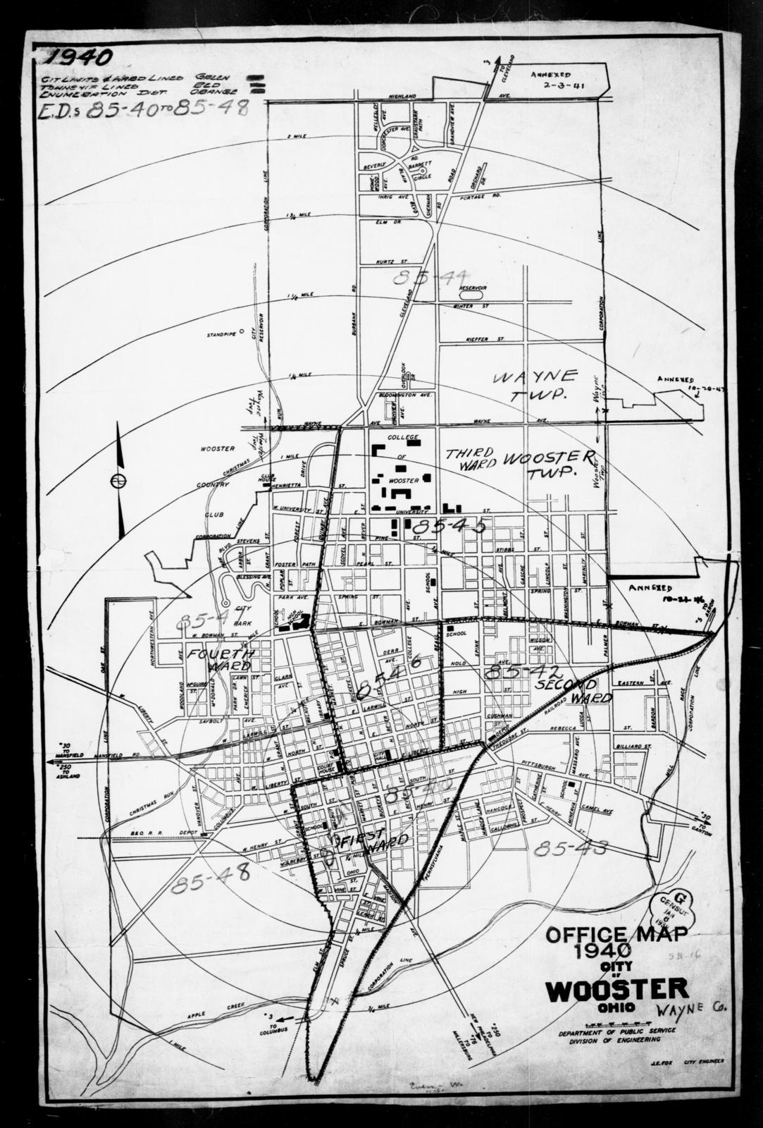 1940 Census Enumeration District Maps - Ohio - Wayne County ... on