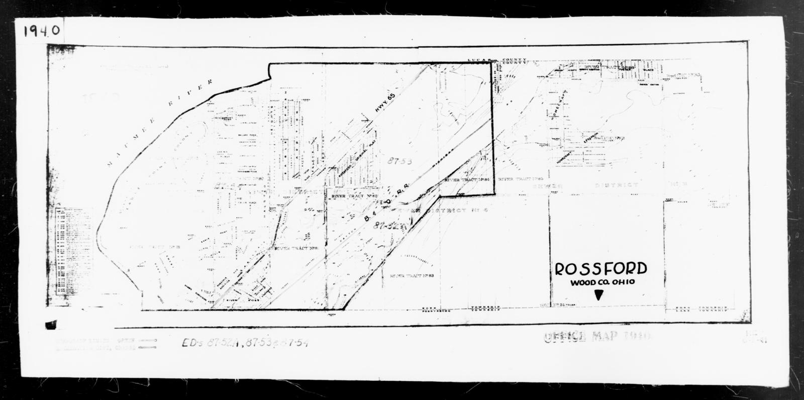 Rossford Ohio Map.1940 Census Enumeration District Maps Ohio Wood County