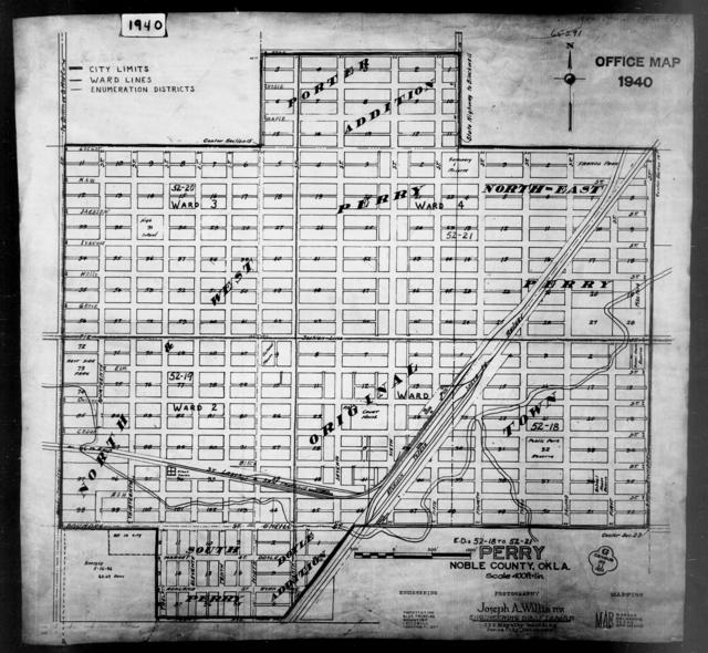 1940 Census Enumeration District Maps Oklahoma Noble County