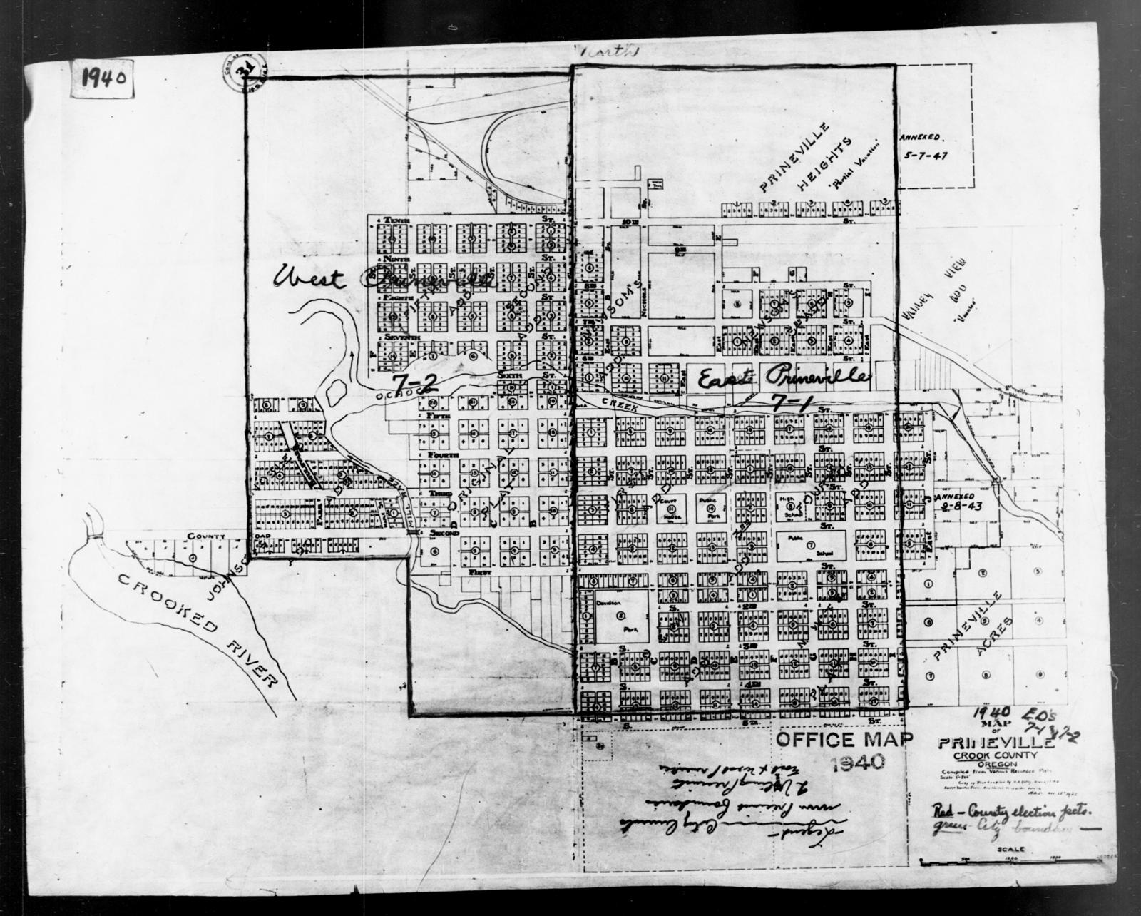 1940 Census Enumeration District Maps Oregon Crook County