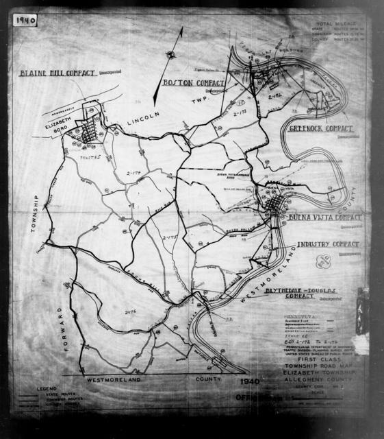 1940 Census Enumeration District Maps - Pennsylvania - Allegheny County - Elizabeth - ED 2-170, ED 2-171, ED 2-172, ED 2-173, ED 2-174, ED 2-175, ED 2-176