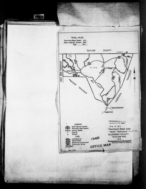 1940 Census Enumeration District Maps - Pennsylvania - Allegheny County - Fawn - ED 2-186