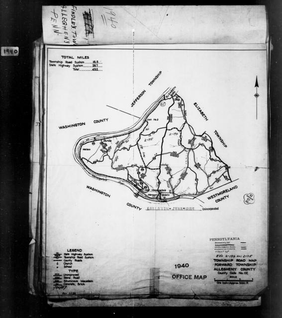 1940 Census Enumeration District Maps - Pennsylvania - Allegheny County - Forward - ED 2-194, ED 2-195