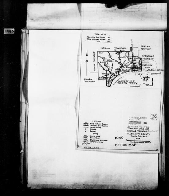 1940 Census Enumeration District Maps - Pennsylvania - Allegheny County - Harmar - ED 2-212, ED 2-213