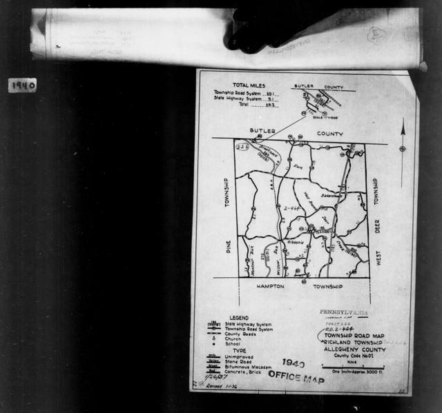 1940 Census Enumeration District Maps - Pennsylvania - Allegheny County - Richland - ED 2-464