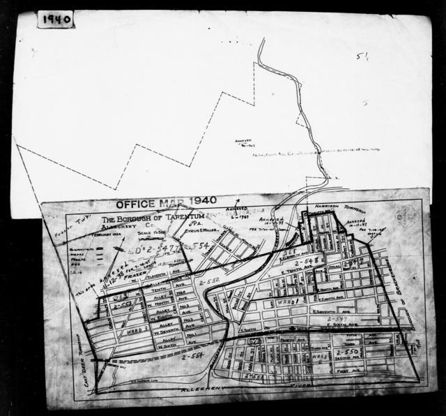 1940 Census Enumeration District Maps - Pennsylvania - Allegheny County - Tarentum - ED 2-547, ED 2-548, ED 2-549, ED 2-550, ED 2-551, ED 2-552, ED 2-553, ED 2-554