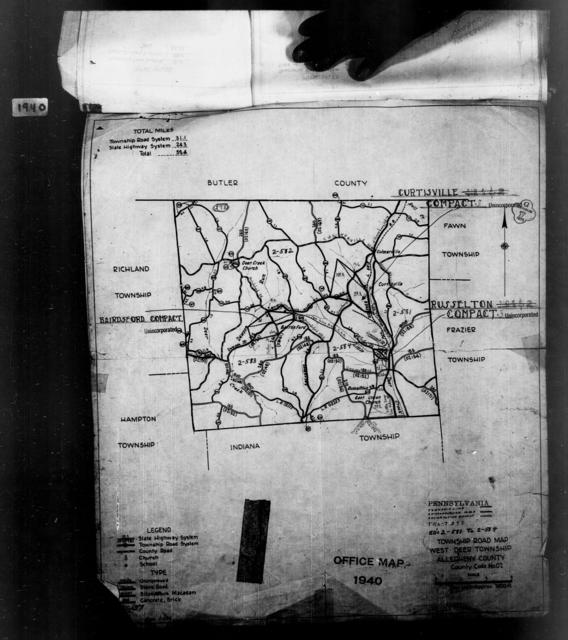 1940 Census Enumeration District Maps - Pennsylvania - Allegheny County - West Deer - ED 2-581, ED 2-582, ED 2-583, ED 2-584