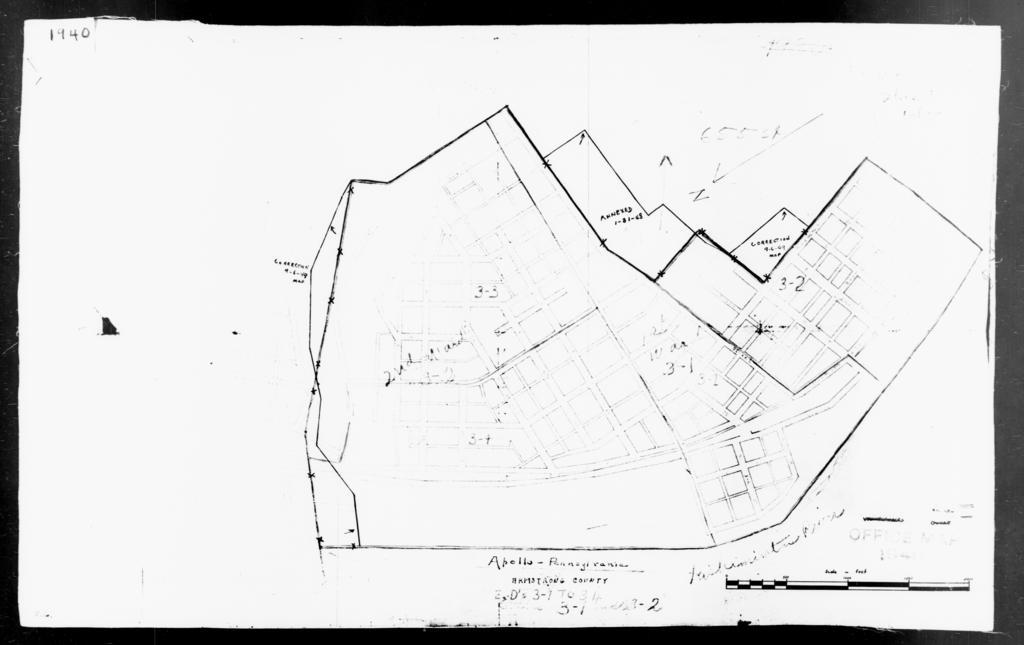 1940 Census Enumeration District Maps - Pennsylvania - Armstrong County - Apollo - ED 3-1, ED 3-2, ED 3-3, ED 3-4
