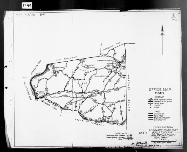 1940 Census Enumeration District Maps - Pennsylvania - Armstrong County - Boggs - ED 3-8