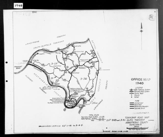 1940 Census Enumeration District Maps - Pennsylvania - Armstrong County - Gilpin - ED 3-29, ED 3-30