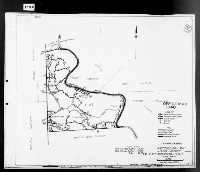 1940 Census Enumeration District Maps - Pennsylvania - Armstrong County - Perry - ED 3-22, ED 3-23, ED 3-52, ED 3-57
