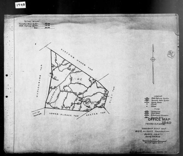 1940 Census Enumeration District Maps - Pennsylvania - Berks County - Alsace - ED 6-2