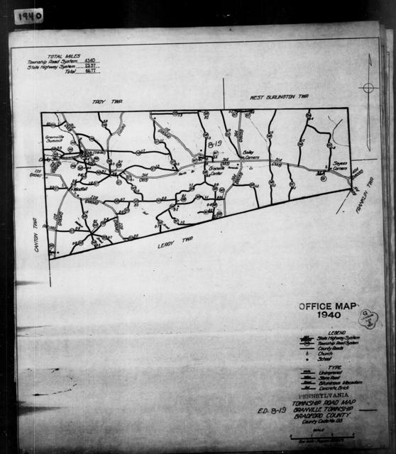 1940 Census Enumeration District Maps - Pennsylvania - Bradford County - Granville - ED 8-19