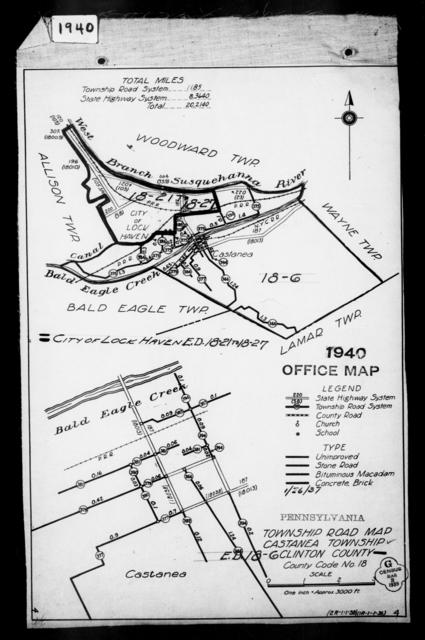 1940 Census Enumeration District Maps - Pennsylvania - Clinton County - Castanea - ED 18-6