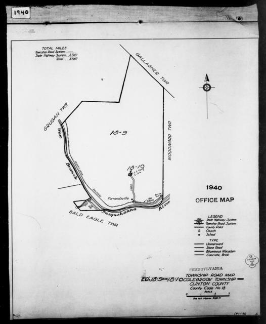 1940 Census Enumeration District Maps - Pennsylvania - Clinton County - Colebrook - ED 18-9, ED 18-10