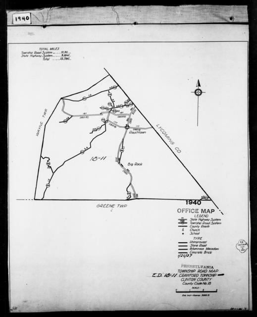 1940 Census Enumeration District Maps - Pennsylvania - Clinton County - Crawford - ED 18-11