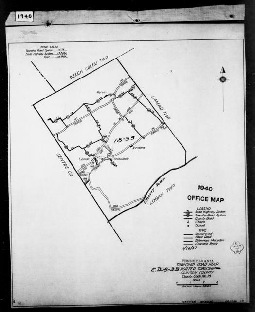 1940 Census Enumeration District Maps - Pennsylvania - Clinton County - Porter - ED 18-35